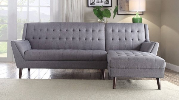 Homeroots Gray Fabric Sectional OCN-307755