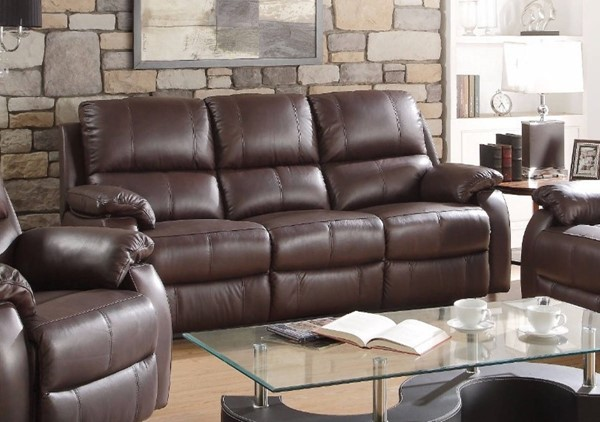 HomeRoots Dark Brown Leather Sofa OCN-307805