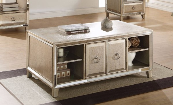 Homeroots Antique Gold Wood Lift Top Coffee Table OCN-307905