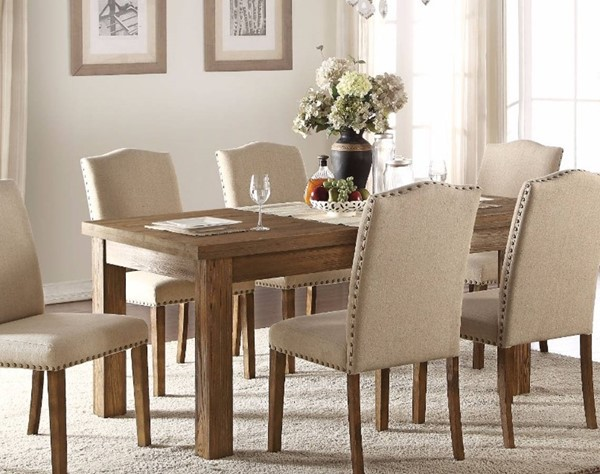 Homeroots Salvage Oak Brown Wood Dining Table OCN-307988