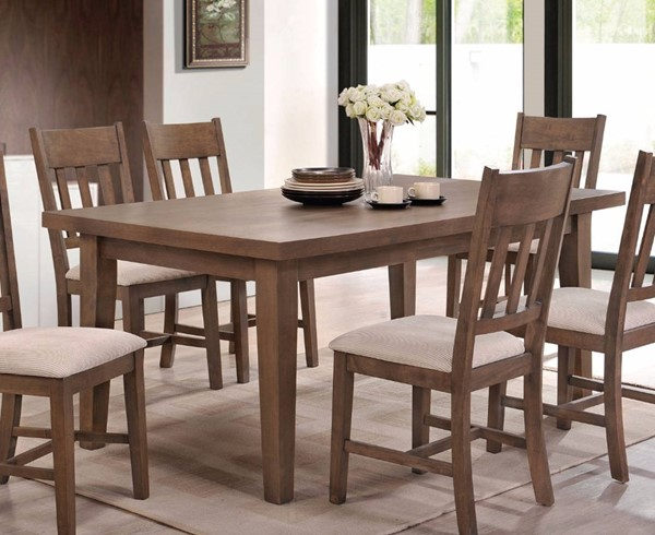 Homeroots Weathered Oak Rubberwood Dining Table OCN-308012