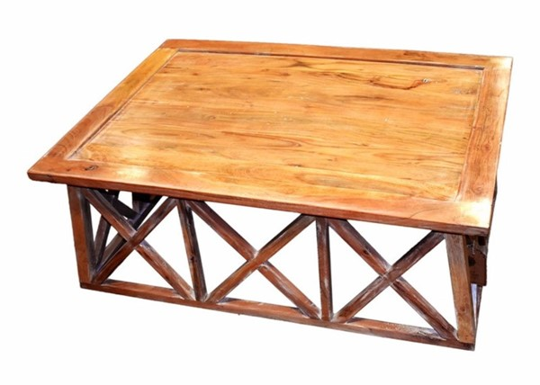 Homeroots Traditional Brown Wood Coffee Table OCN-308799