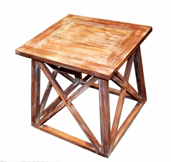 Homeroots Traditional Brown Wood Side Table OCN-308800