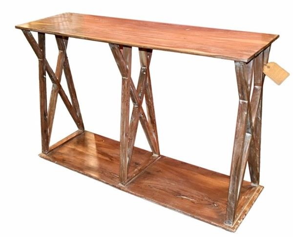 Homeroots Traditional Brown Wood Console Table OCN-308801