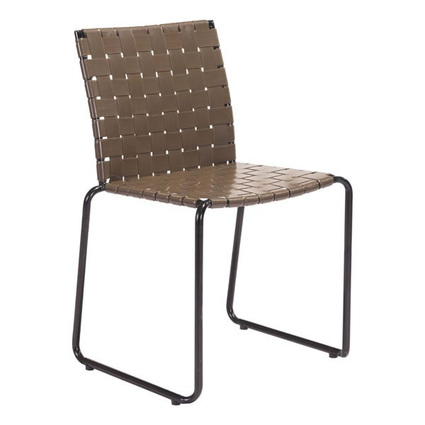 Homeroots Espresso Faux Leather Steel Dining Chairs OCN-309003-DR-CH-VAR
