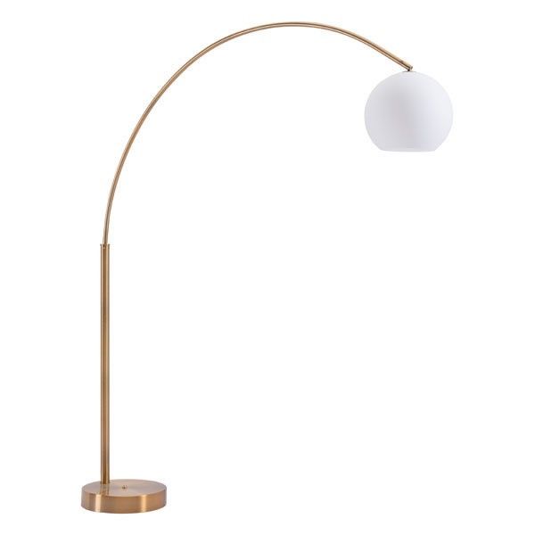 HomeRoots Brushed Brass Griffith Floor Lamp OCN-309024