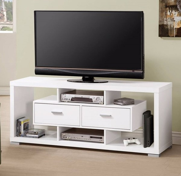 Homeroots Modern White Wood TV Console OCN-309082