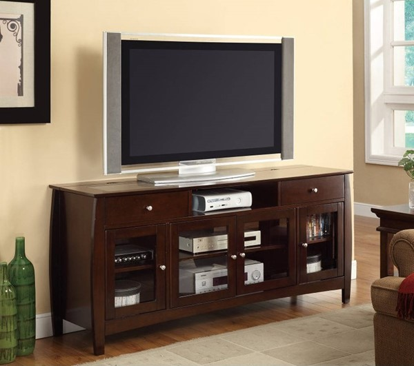 Homeroots Brown Wood Connect It TV Console OCN-309105