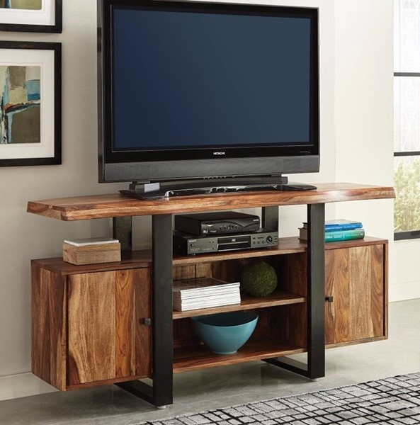 Homeroots Black Brown Wood Appealing TV Console OCN-309122