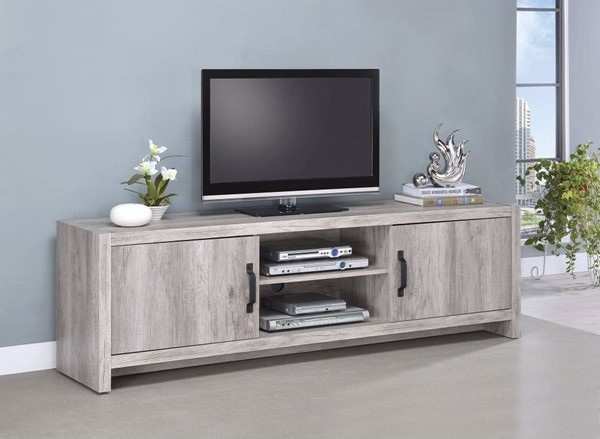 Homeroots Gray Driftwood Marvelous TV Console OCN-309127