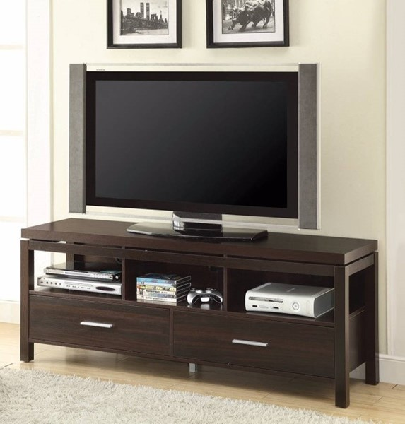 Homeroots Brown Wood Drawers TV Console OCN-309151