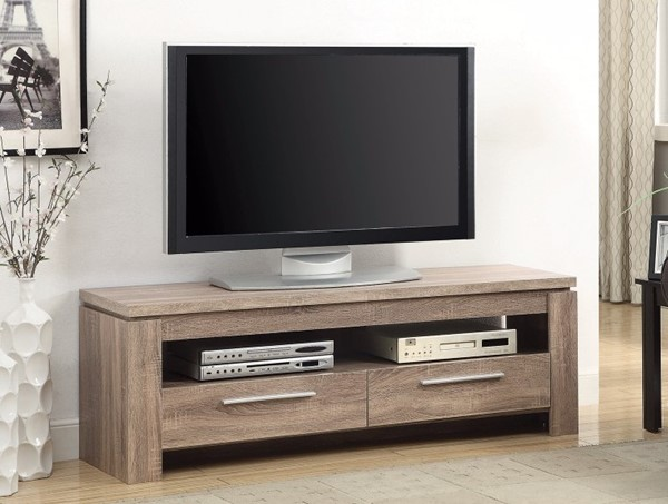 Homeroots Weathered Brown Wood TV Console OCN-309154