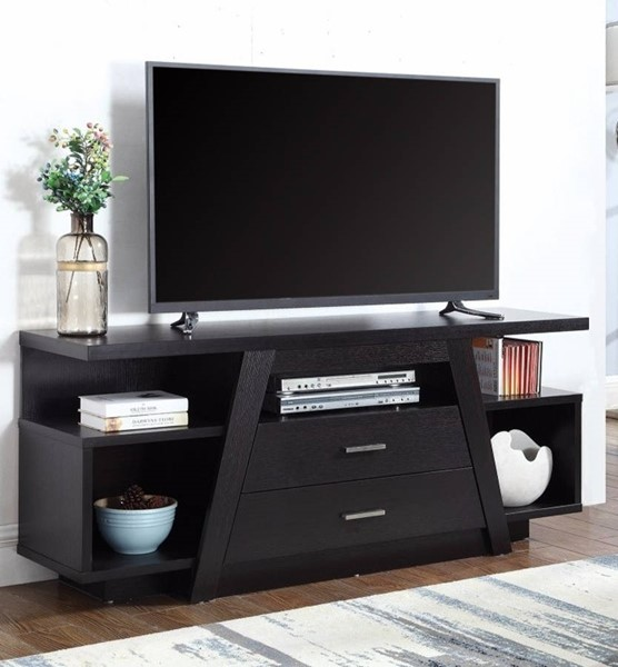 Homeroots Black Wood Marvelously Charmed TV Console OCN-309166