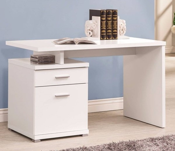 Homeroots White Wood Cabinet Desk OCN-309177