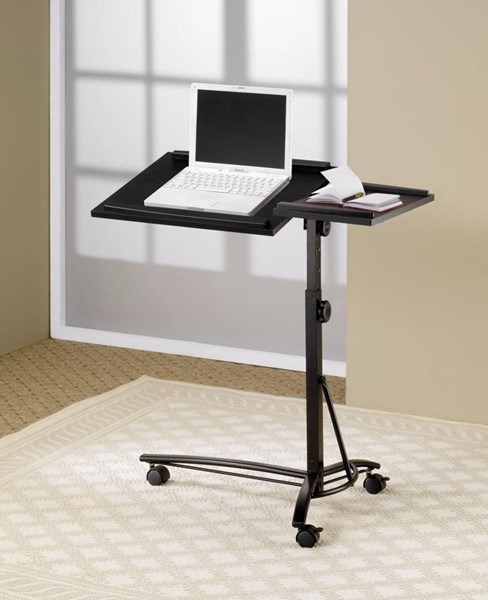 Homeroots Black Metal Vivacious Laptop Stand with Adjustable Swivel Top OCN-309181