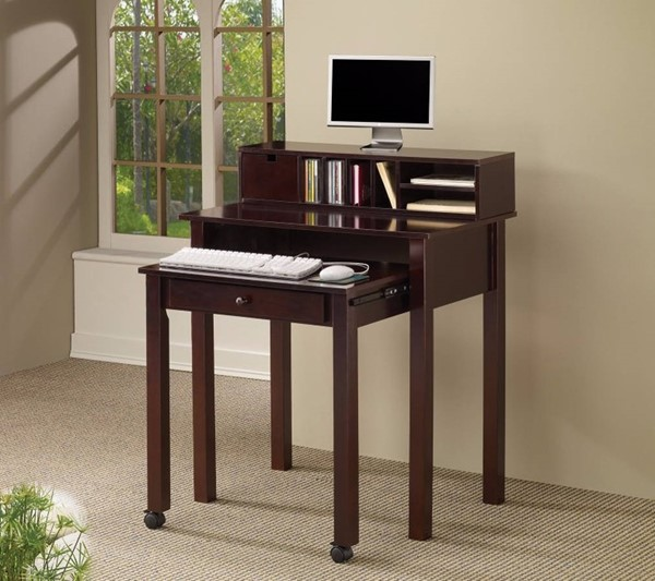 Homeroots Brown Wood Writing Desk OCN-309540