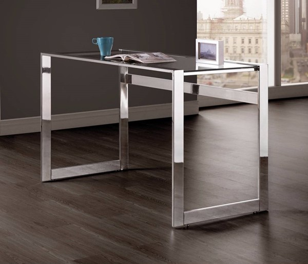 Homeroots Silver Metal Elegantly Writing Desk OCN-309564