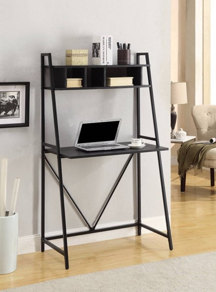 Homeroots Black Metal Writing Desk OCN-309585