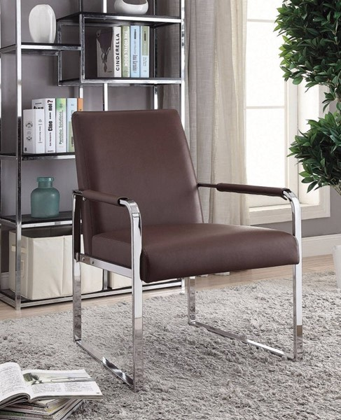 HomeRoots Brown Rustically Designed Accent Chair OCN-309742