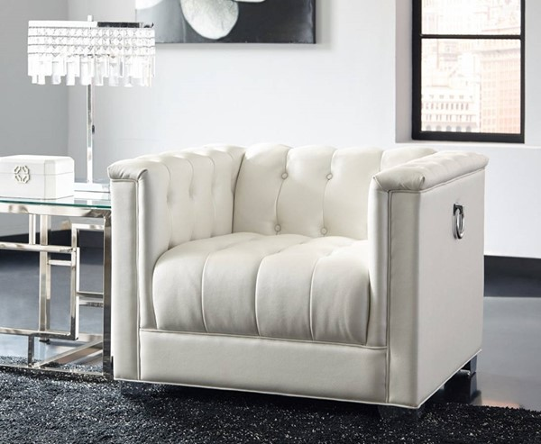 HomeRoots White Impressively Styled Chair OCN-309872