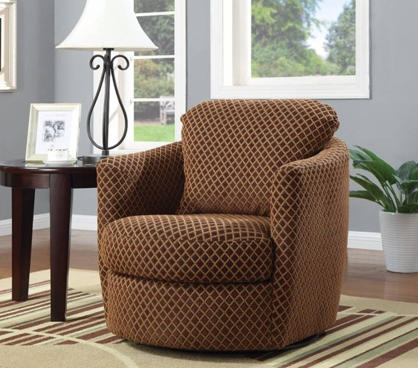 HomeRoots Traditional Brown Designed Accent Chair OCN-309904