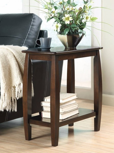 Homeroots Brown Wood Chair Side Table OCN-309959