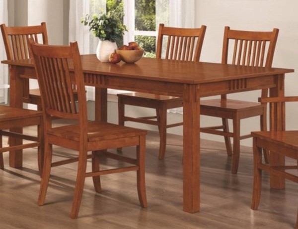 Homeroots Brown Wood Dining Table OCN-310194