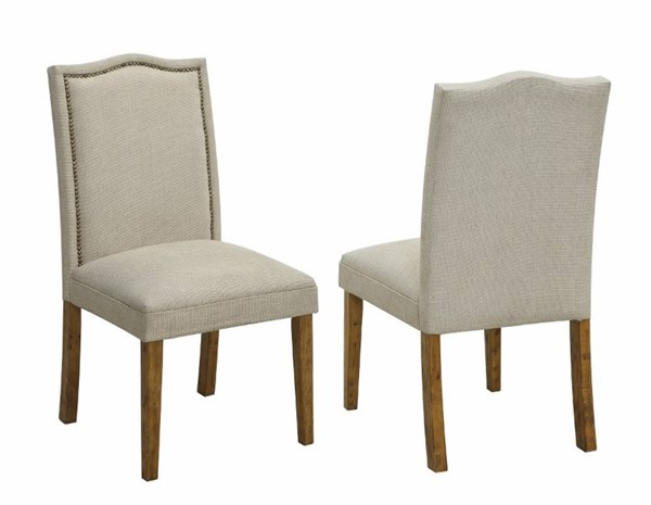 2 Homeroots Beige Fabric Side Chairs OCN-310315