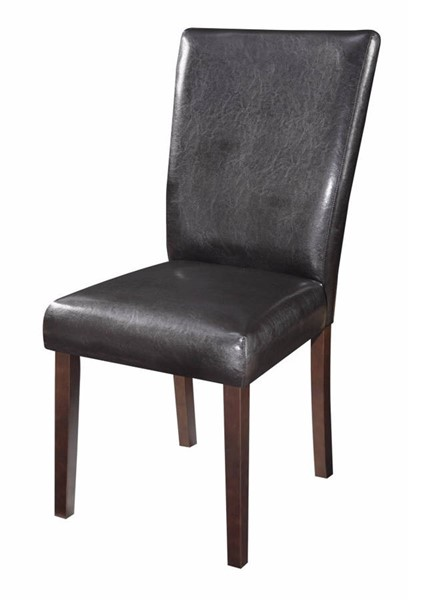 2 Homeroots Black Fabric Side Dining Chairs OCN-310318