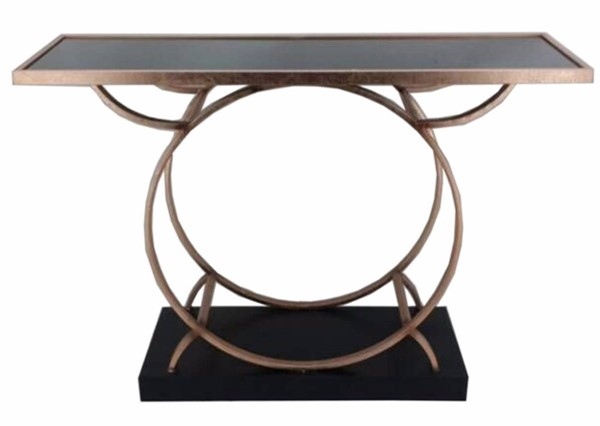 Homeroots Gold Metal Eclectic Console Table OCN-311709