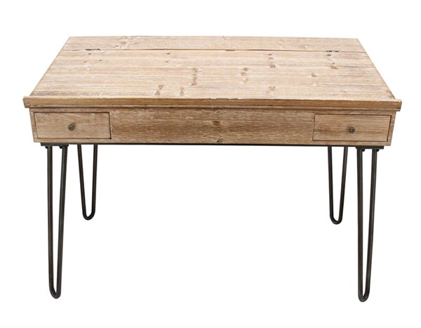 Homeroots Brown Wood Lift Top Writing Table OCN-312225