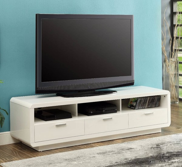 Homeroots White MDF Majestic TV Stand OCN-313157