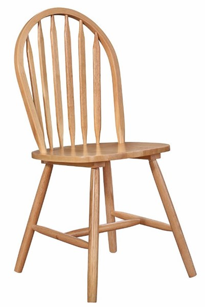 4 Homeroots Natural Brown Wood Side Chairs OCN-313376