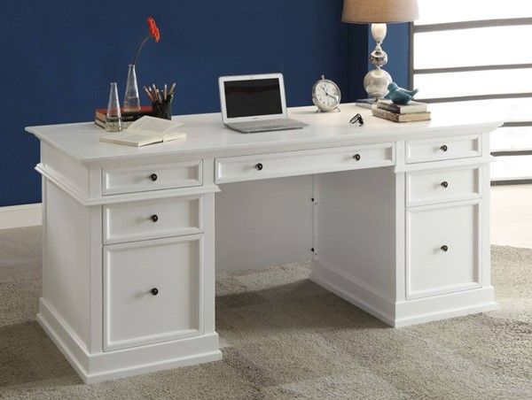 Homeroots White Wood Executive Office Desk OCN-313514