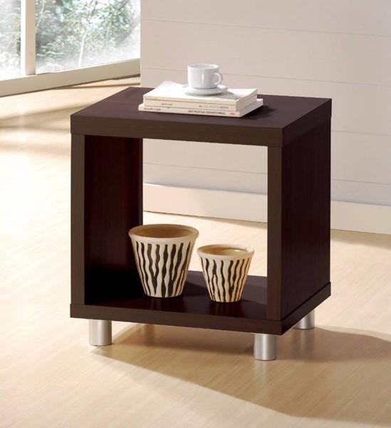 Homeroots Espresso Brown MDF End Table OCN-313588