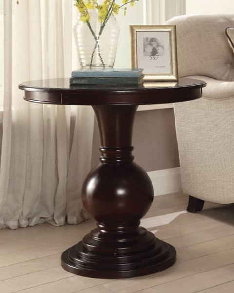 Homeroots Espresso Wood Resin End Table OCN-313653