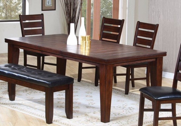 Homeroots Cherry Maple Rubberwood Dining Table OCN-313757