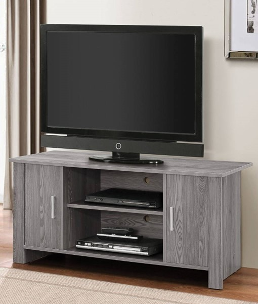 Homeroots Gray Wood TV Stand OCN-313916