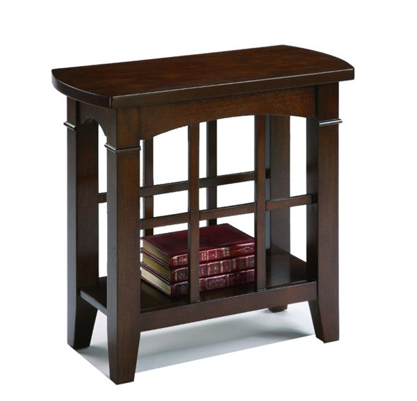 Homeroots Espresso Wood Chair Side Table OCN-314089