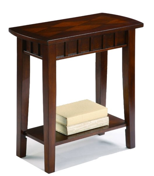 Homeroots Espresso Brown Wood Chair Side Table OCN-314090