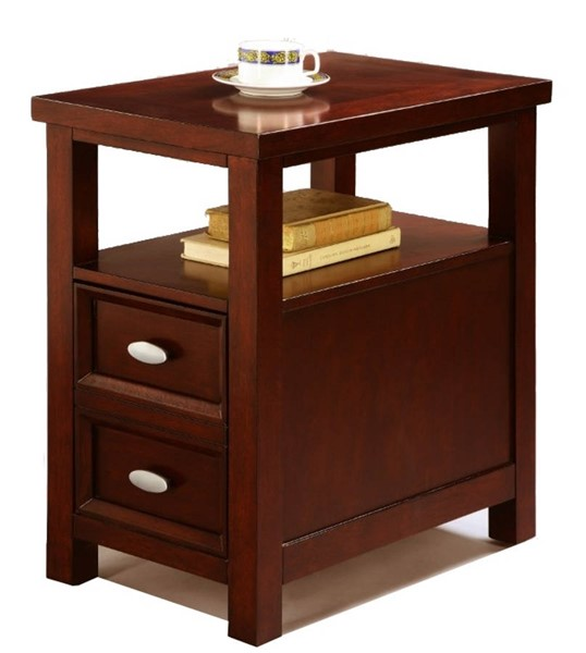 Homeroots Brown Wood Spacious Chair Side Table OCN-314091