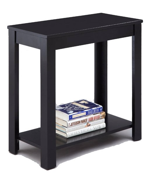 Homeroots Black Wood Chair Side Table OCN-314095