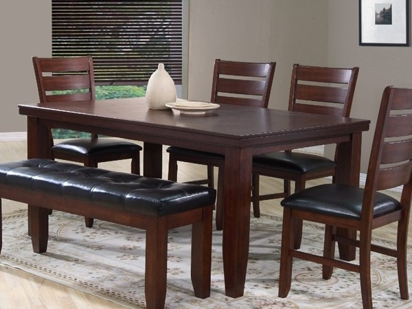 Homeroots Cherry Brown Wood Rectangle Dining Table OCN-314109