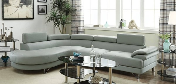 Homeroots Gray 2pc Sectional OCN-314276