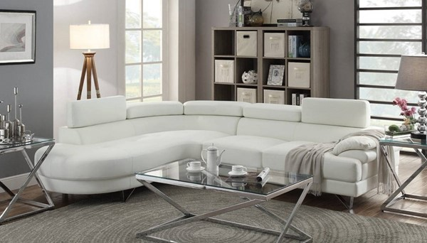 Homeroots White 2pc Sectional OCN-314277