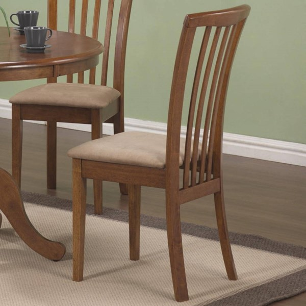 2 Homeroots Ritzy Beige Fabric Dining Side Chairs OCN-315096