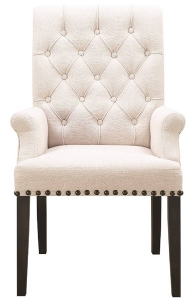 Homeroots Beige Fabric Diamond Tufted Upholstered Dining Chairs OCN-315193-DR-CH-VAR