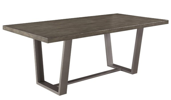 Homeroots Gray Metal Dining Table OCN-315202