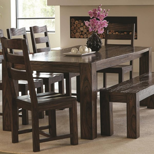 Homeroots Contemporary Dark Brown Wood Dining Table OCN-315214