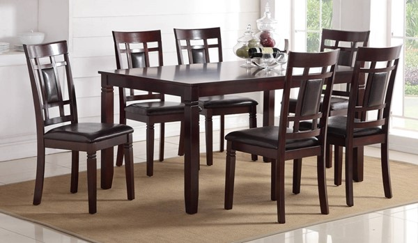 Homeroots Espresso Brown Rubberwood 7pc Dining Set OCN-315284